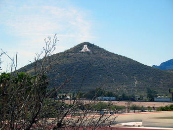 'A' Mountain in Tucson, Arizona.